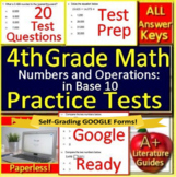 4th Grade Test Prep Math: Numbers and Operations in Base 10 Standardized Testing