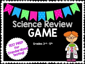 4th Grade Test-Prep Review Game BUNDLE-Math and Science