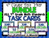 4th Grade Test Prep Task Card BUNDLE ~ 4.NBT ~ 4.OA ~ 4.NF ~ 4.G ~ 4.MD
