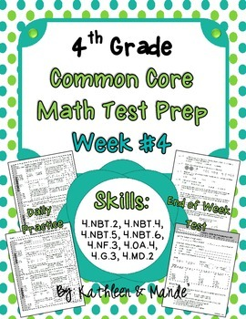 4th Grade: Weekly Test Prep #4 (Daily Practice & Assessment)