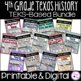 4th Grade Texas History TEKS-Based Bundle / Printable & Digital