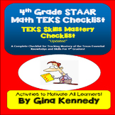A Complete 4th Grade Texas MATH STAAR TEKS Checklist!