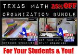 4th Grade Texas MATH Ultimate Organization BUNDLE