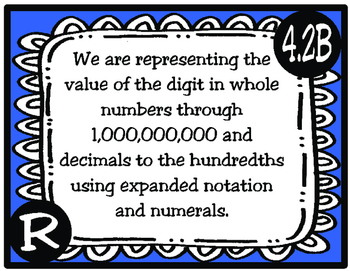 4th Grade Texas Math Standards