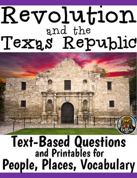 4th Grade Texas Revolution & Alamo Worksheets (Quizzes, Matching, Vocabulary)