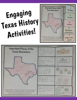 4th Grade Texas Revolution & Alamo Interactive Notebook Activities (TEKS)