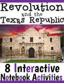 4th Grade Texas Revolution & Alamo Interactive Notebook Ac