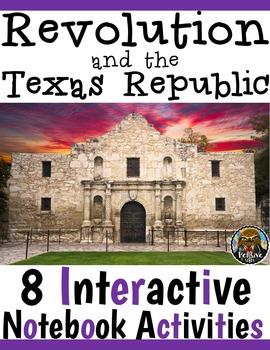 4th Grade Texas Revolution & Alamo Interactive Notebook Ac