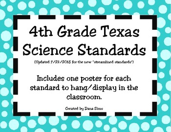 4th Grade Texas Science Standards