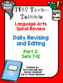4th Grade Texas Tornado Daily Revise & Edit TEKS Spiral Review Part 2