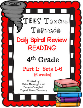 4th Grade Texas Tornado Daily Reading Spiral Review PART 1 TEKS Based