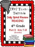 4th Grade Texas Tornado Daily Reading Spiral Review PART 2 TEKS Based