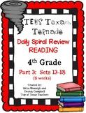4th Grade Texas Tornado Daily Reading Spiral Review PART 3 TEKS Based