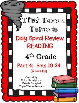 4th Grade Texas Tornado Daily Reading Spiral Review PART 4 TEKS Based
