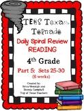 4th Grade Texas Tornado Daily Reading Spiral Review PART 5