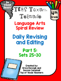 4th Grade Texas Tornado Daily Revise & Edit TEKS Spiral Review Part 5