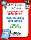 4th Grade Texas Tornado Daily Revise & Edit TEKS Spiral Re