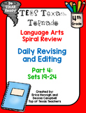 4th Grade Texas Tornado Daily Revise & Edit TEKS Spiral Review Part 4