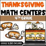 4th Grade Thanksgiving Math Activities   Digital Thanksgiv