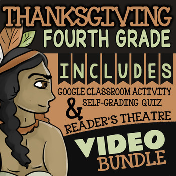 4th Grade Thanksgiving Math Activities and Reading Activities w/ Fun Video