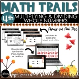 4th Grade Thanksgiving Math Scavenger Hunt   Multiply & Di