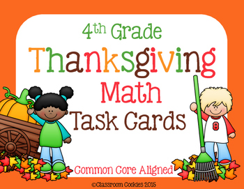 4th Grade Thanksgiving Math (Common Core Aligned)