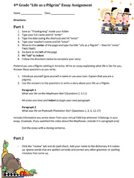 thanksgiving essay lesson Thanksgiving then and now and compose a brief essay about the similarities and similar to and different from today's thanksgiving celebration lesson plan.