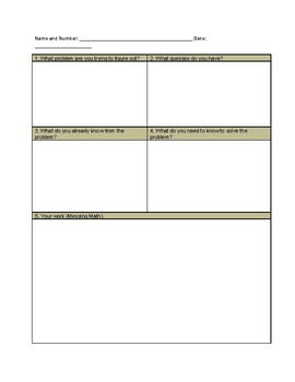 4th Grade Thinking Sheet