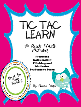4th Grade Tic Tac Learn Math Activities