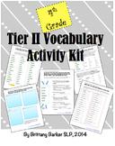 4th Grade Tier 2 Vocabulary Activity Kit