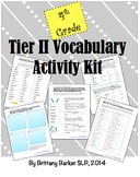 4th Grade Tier 2 Vocabulary Activity Kit