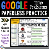 4th Grade Time Conversions and Elapsed Time {4.MD.1, 4.MD.2} Google Classroom