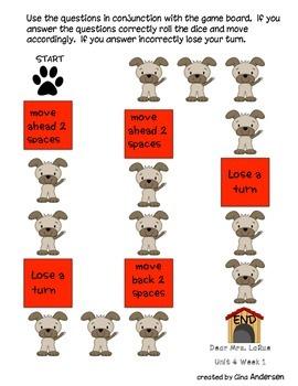 4th Grade Treasures Comprehension Games Units 4-6