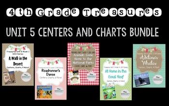4th Grade Treasures Unit 5 Bundle