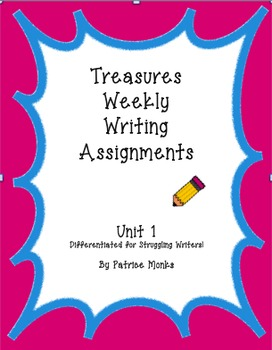 4th Grade Treasures Weekly Response Writing UNIT 1 - Diffe