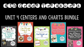 4th Grade Treasures Year Long Bundle