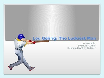 4th Grade Trophies PowerPoint Lou Gehrig