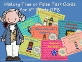 4th Grade Social Studies True or False Task Card BUNDLE -