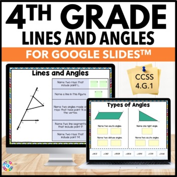 4th Grade Types of Lines and Types of Angles {4.G.1} Google Classroom