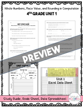 4th Grade Unit 1 Math Test Pack {Paper and Pencil}
