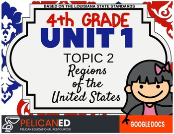 4th Grade - Unit 1 Topic 2 - Regions of the United States - GOOGLE DOCS VERSION