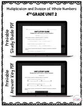 4th Grade Unit 2 Math Test Pack {Paperless}