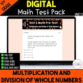 4th Grade Unit 2 Math Test Pack {Paperless} Distance Learning