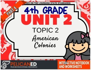 4th Grade - Unit 2 Topic 2 - American Colonies - Part A