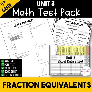 4th Grade Unit 3 Math Test Pack {Paper and Pencil}
