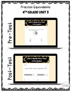 4th Grade Unit 3 Math Test Pack {Paperless}