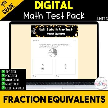 4th Grade Unit 3 Math Test Pack {Paperless}