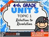 4th Grade - Unit 3 Topic 1 - Rebellion to Revolution - Part A