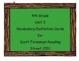 4th Grade Unit 3 Vocab Scott Foresman Reading Street 2011