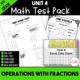 4th Grade Unit 4 Math Test Pack {Paper and Pencil}